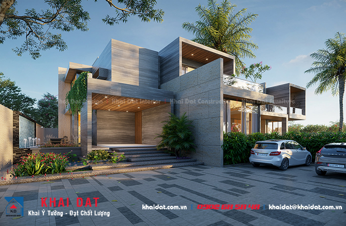 thiết kế bungalow 2 tầng